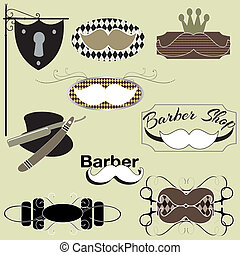 barber shop set - A set of barber shop and mens grooming...