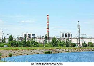 Chernobyl nuclear power station - General view of Chernobyl...