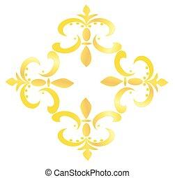 Fleur de Lis Design - Gold - Illustration of a Fleur de Lis...