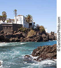 House in the beach - View of beach San Telmo in the Spanish...