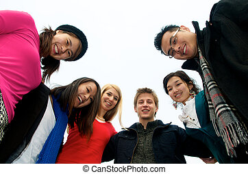 Group of Students in Circle