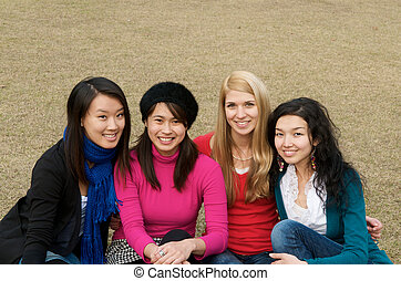 Multicultural girls in College