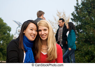 Female Students Friends