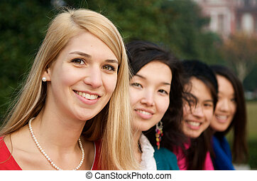 Beautiful student girls