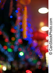 China Abstract Lights - Blurred Colorful China Abstract...