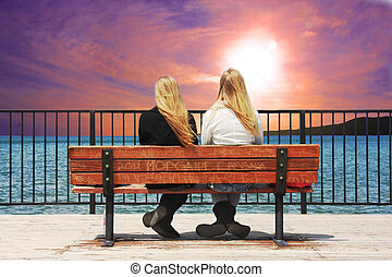 Front Row Seat - High definition image of two young ladies...