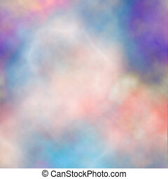 Colorful smoke - Editable vector background of colorful...