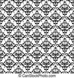Seamless BW Damask Pattern - This vector image is scalable...