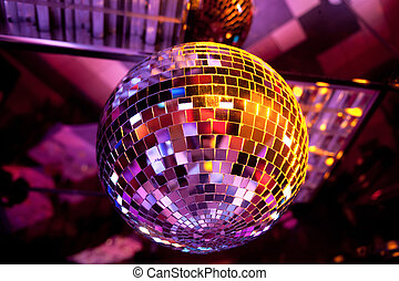 Disco ball light reflection background