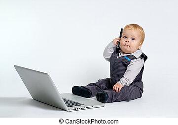 bebê,  laptop