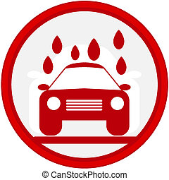 sign with car wash image
