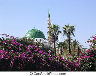 Akko El-Jazzr Mosque December 2003 - Al-Jazzar Great Mosque...