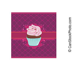 Charming Pattern With cupcake