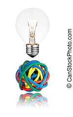 Problem Solution - Lightbulb with Ball of cables