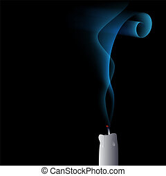 vector blown out candle - The candle on the draught - blown...