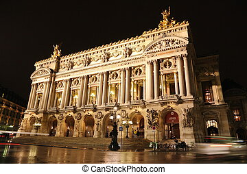 Palais or Opera Garnier and The National Academy of Music in...