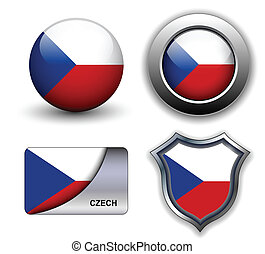 Czech icons - Czech Republic flag icons theme.