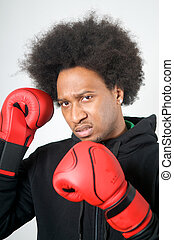 African American Boxer aggression
