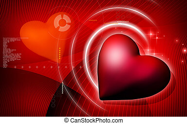Love symbol - Digital illustration of love symbol in...