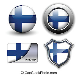 Finland icons - Finland flag icons theme.