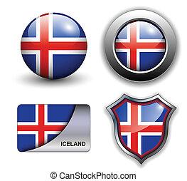 Iceland icons - Iceland flag icons theme.