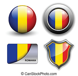 Romania  icons - Romania flag icons theme.