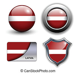 Latvia icons - Latvia flag icons theme