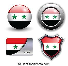 Syria icons - Syria flag icons theme.