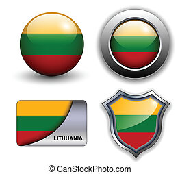 Lithuania icons - Lithuania flag icons theme.