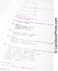 Printed Code - Part of the CSS code is printed on the paper