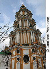Cathedral of Novospassky monastery in Moscow Russia
