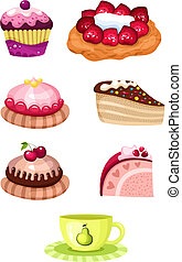 cake set - vector illustration of a cake set