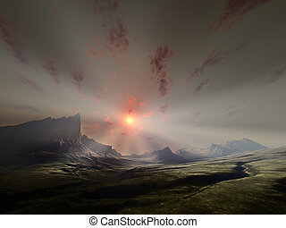 fantasy landscape - An image of a nice fantasy landscape...