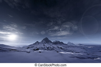 snowy mountains - An image of a snowy mountains scenery