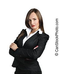 Business Woman - Confident business woman isolated over...
