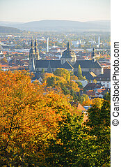 Fuldaer Dom Cathedral from Frauenberg in Fulda, Hessen,...