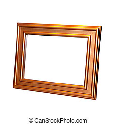 Decorative frame for a photo on a white background