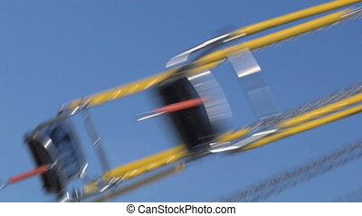 chain carousel slow motion 02 - Chain swing ride in...