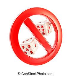 Gambling is not allowed forbidden sign