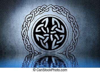 keltisch, t�towierung, Zeichnung,...