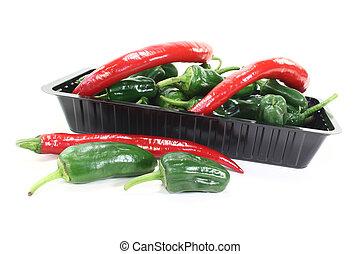 Pimientos with chilis