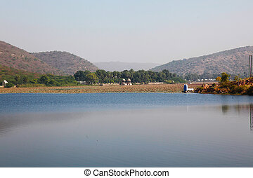 Nawal Sagar Lake Bundi - the Nawal Sagar Lake in the morning...