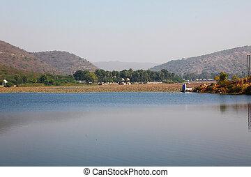Nawal Sagar Lake Bundi - the Nawal Sagar Lake in the morning...