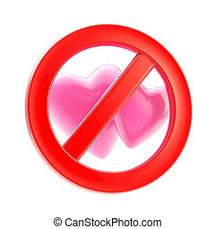 Lesbian forbidden red glossy sign isolated