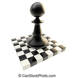 Chess icon illustration of isolated pawn - Chess icon...