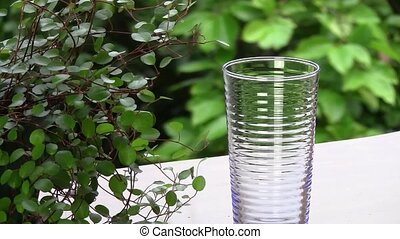 mineral water - I took a state I put a glass in the window,...