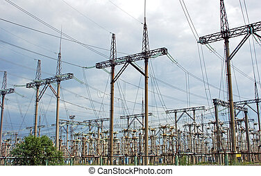 Electricity line in Chernobyl - Electricity line of...