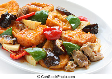 home style bean curd (tofu) - chinese cuisine
