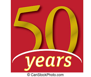 A 50 years logotype