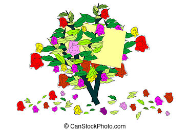 A bouquet of roses for you ... - background with colorful...